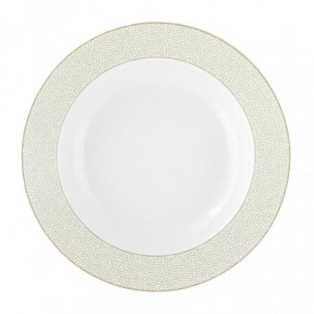 Assiette creuse à aile 22 cm en porcelaine issus d'un service complet allant lave vaiselle