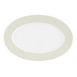 Plat ovale 33 cm Corète du Japon en porcelaine
