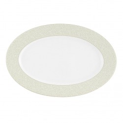 Plat ovale 33 cm En Chemin en porcelaine