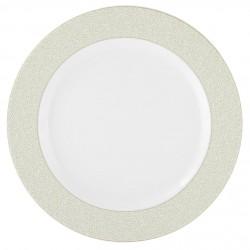 Plat rond à aile 32 cm Corète du Japon en porcelaine