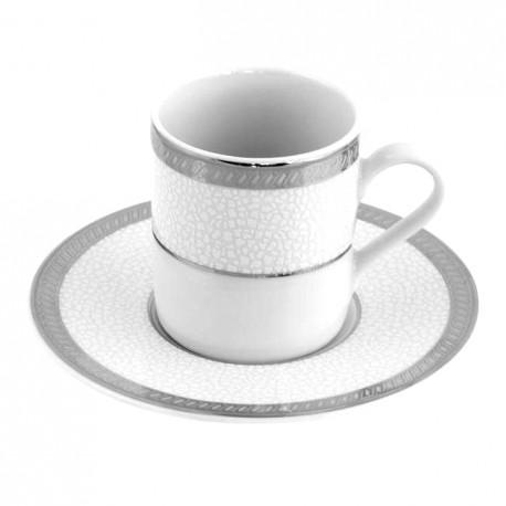 Tasse à café 100 ml Fleur de Lin avec soucoupe