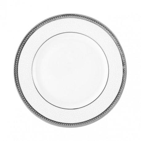 Assiette plate à aile 18 cm Fleur de Lin en porcelaine