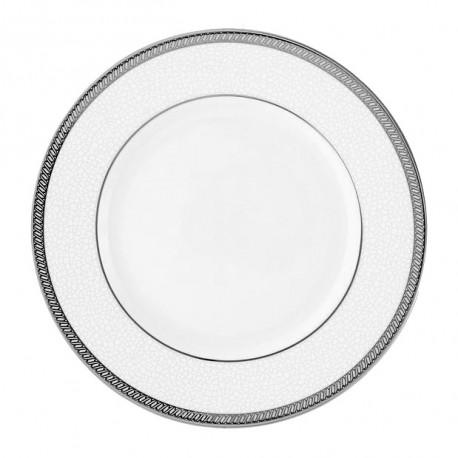 Assiette plate à aile 20 cm Fleur de Lin en porcelaine