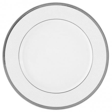 Assiette plate à aile 27 cm Fleur de Lin en porcelaine