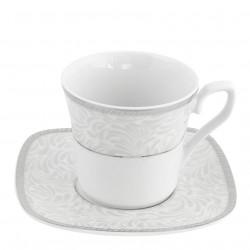 Tasse à thé 220 ml avec soucoupe Oxalis en porcelaine
