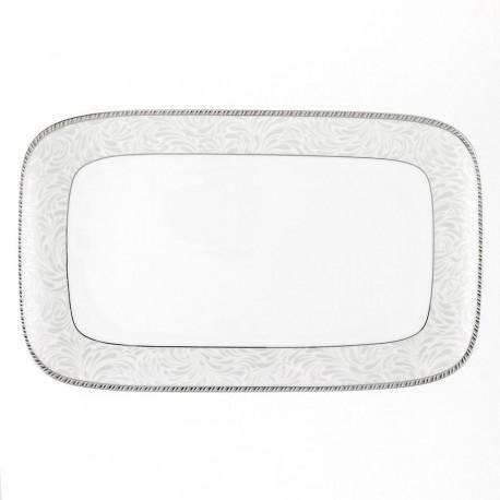 Plat rectangulaire 34 cm Oxalis en porcelaine