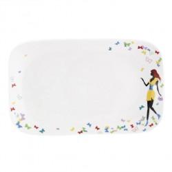 Ravier 25 cm Jolie Demoiselle en porcelaine