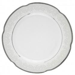 Assiette 27 cm ronde plate en porcelaine - Idylle dans l'olivaie