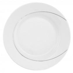 Assiette plate ronde 27 cm, porcelaine, service d'assiette complet