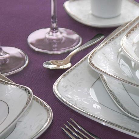 Service 24 pièces Astrance en porcelaine, service de table complet 24 pièces en porcelaine