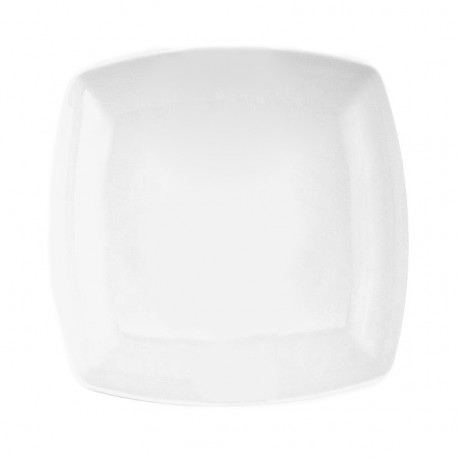 service de table en porcelaine blanc, Assiette creuse carrée 20,5 cm