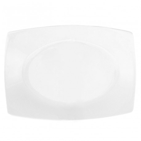 service de table en porcelaine, Plat rectangulaire 33 cm blanc
