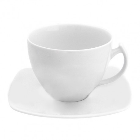 service de vaisselle en porcelaine, Tasse à thé 250 ml avec soucoupe 14 cm