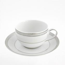 Tasse à café 170 ml avec soucoupe Plaisir Enchanté en porcelaine