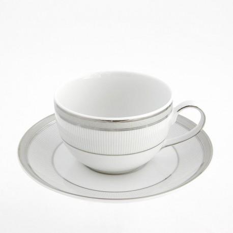 Tasse à thé 250 ml avec soucoupe en porcelaine, art de la table
