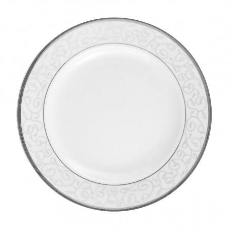 Plat creux rond à aile 29 cm Jardin Secret en porcelaine