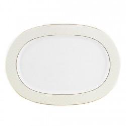 Plat ovale 37 cm L'or du temps en porcelaine