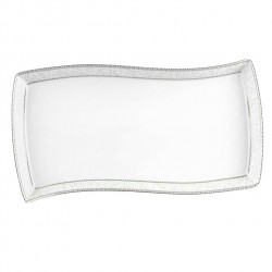 Plat rectangulaire 35 cm Astilbe Royal en porcelaine blanche