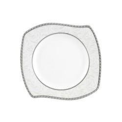 Assiette plate 18 cm (21 cm diag) Astilbe en porcelaine