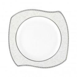 Assiette plate 22 cm (25 cm diag) Astilbe en porcelaine