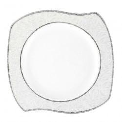 Assiette plate 27 cm (31 cm diag) Astilbe Royal en porcelaine