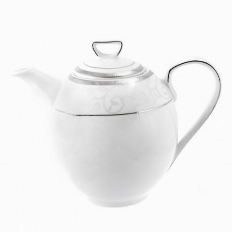 Cafetière 1300 ml avec couvercle Jardin Secret en porcelaine