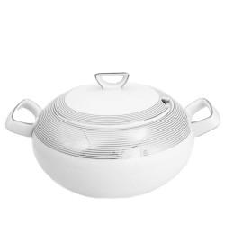 Soupière 2.7 l avec couvercle Esquisse Exquise en porcelaine