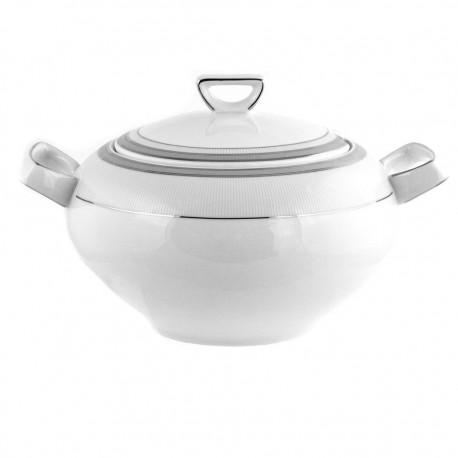 Soupière avec couvercle en porcelaine, service complet de vaisselle en porcelaine