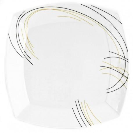 Plat carré 32 cm Aubépine en porcelaine