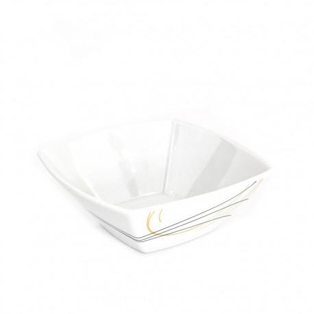 Saladier carré 13 cm Aubépine en porcelaine
