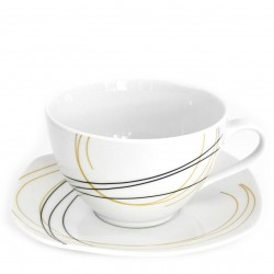 Tasse à thé 400 ml avec soucoupe Aubépine en porcelaine