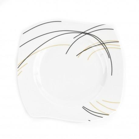 Assiette plate 18 cm (21 cm diag) Aubépine en porcelaine
