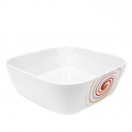 Saladier carré 27,5 cm Spirée en porcelaine