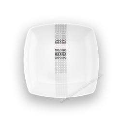 Assiette creuse carrée 20,5 cm (24,5 cm diag) Mandalas en porcelaine