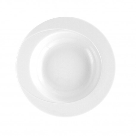 Assiette 23 cm ronde creuse en porcelaine - Catalpa