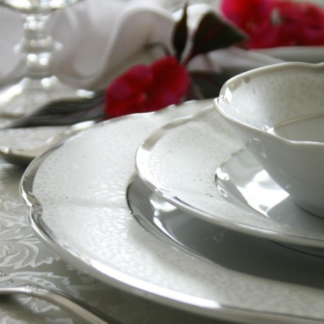 Service de table 24 pcs en porcelaine - Idylle dans l'olivaie