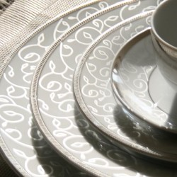 Service de table 18 pièces Jardin Secret en porcelaine