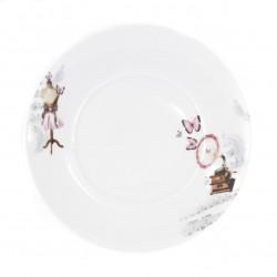 Assiette plate dessert en porcelaine 21 cm ?Symphonie des Papillons