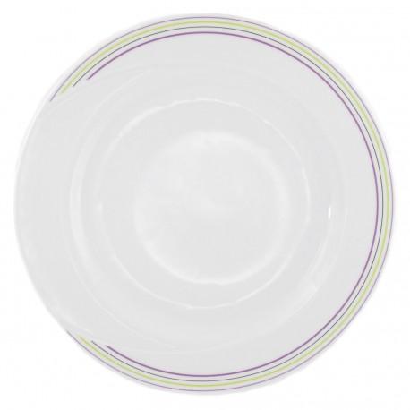 Plat rond 32 cm en porcelaine - Bulle Pastel