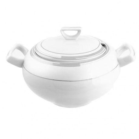 Soupière en porcelaine avec couvercle, service de vaisselle en porcelaine