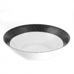 Saladier rond 23 cm Black or White en porcelaine