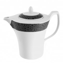 Théière 1.3 litre Black or White en porcelaine