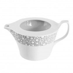 Saucière Black or White en porcelaine blanche