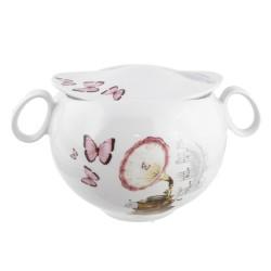 Soupière 3400 ml Symphonie des Papillons en porcelaine