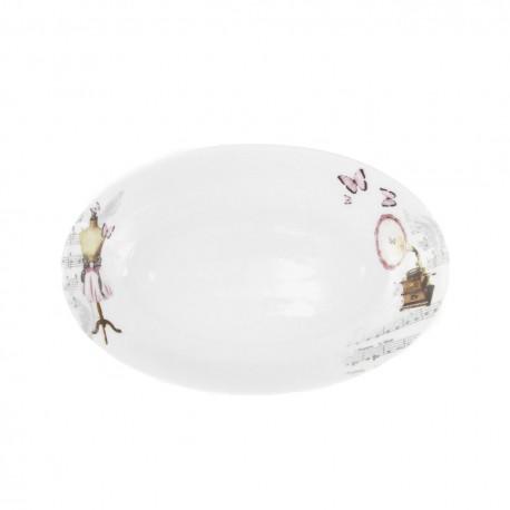 Ravier 23 cm Symphonie des Papillons en porcelaine