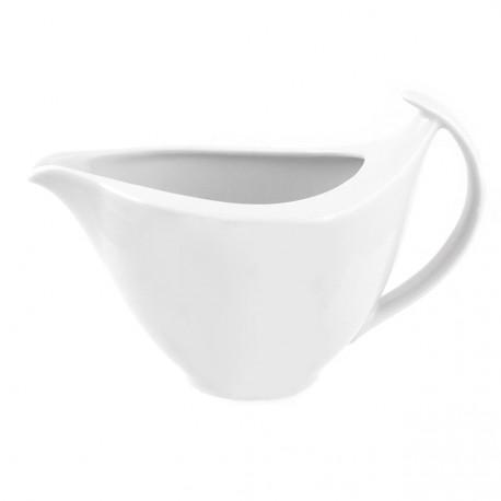 service de vaisselle complet, Saucière 400 ml en porcelaine blanche