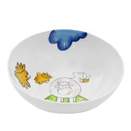 Assiette creuse 19 cm Jonquille en porcelaine