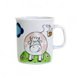 Mug 220 ml Vache Jonquille en porcelaine motif vache