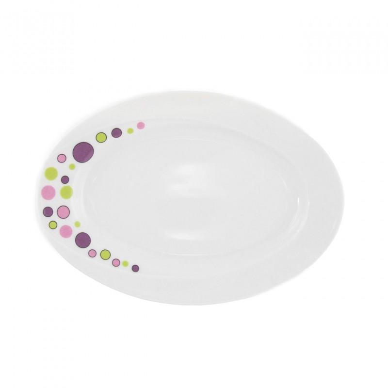 ravier 24 cm en porcelaine blanche bulle pastel. Black Bedroom Furniture Sets. Home Design Ideas