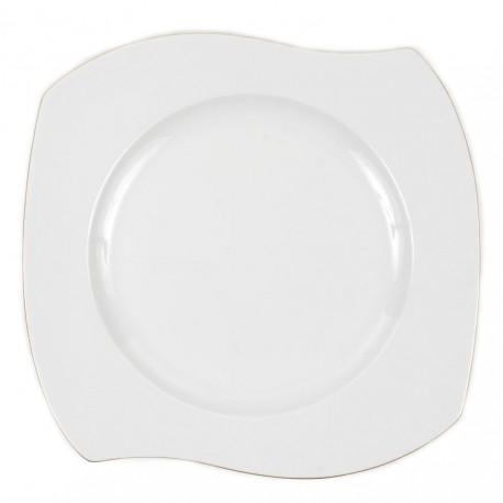 Assiette plate 27 cm en porcelaine, grande assiette en porcelaine, service de table en forme de nuage